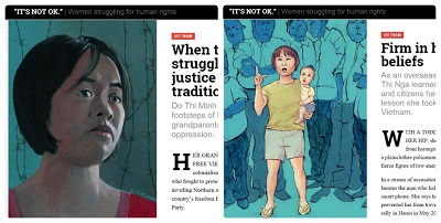 Chân dung cô Đỗ Thị Minh Hạnh và bà Trần Thị Nga trong sách e-book có tên 'It's not OK',