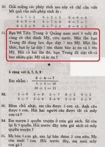 Một bài toán dạy con trẻ tính bạo lực. Ảnh FB Bạch Cúc