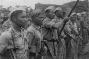 Quân đội của cộng sản Lào. Ảnh CNA