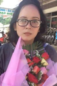 Bà Lê Thị Phương Anh khi mới ra tù. Ảnh FB Quynh Mai